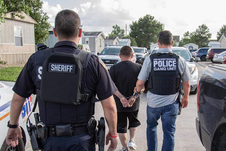 Imagen de archivo de una operación de ICE.