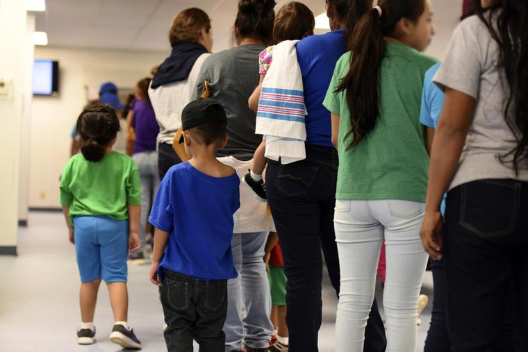Imagen de archivo de un centro de detención de migrantes en Dilley, Texas.