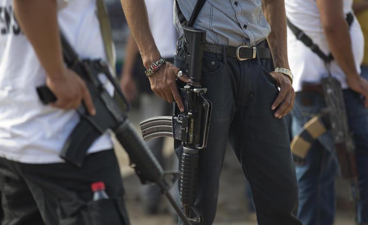 Imagen de archivo de la violencia en el estado mexicano de Michoacán.