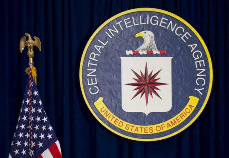 El sello de la Agencia Central de Inteligencia, CIA, en su sede en Langley, Virginia/AP