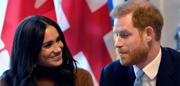 Los duques de Sussex el 7 de enero de 2019, al visitar la Casa de Canadá en Londres