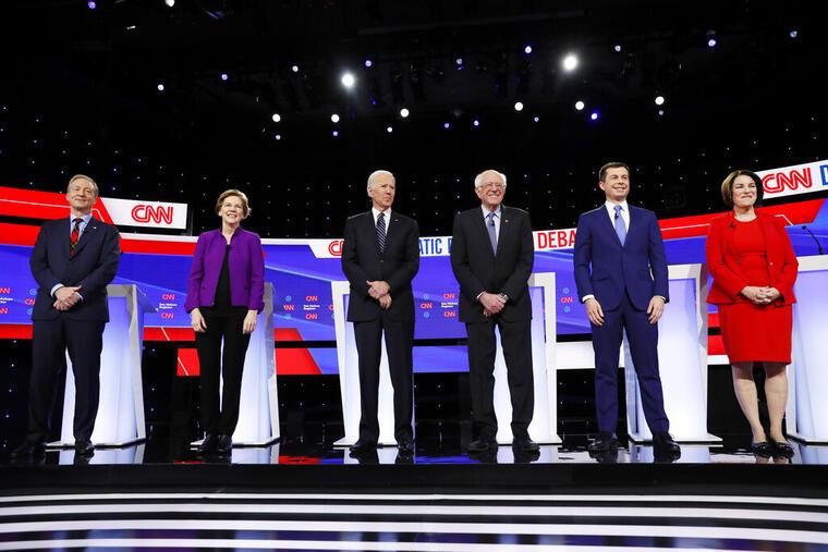 Amy Klobuchar,Pete Buttigieg,Bernie Sanders,Joe Biden,Elizabeth Warren,Tom Steyer