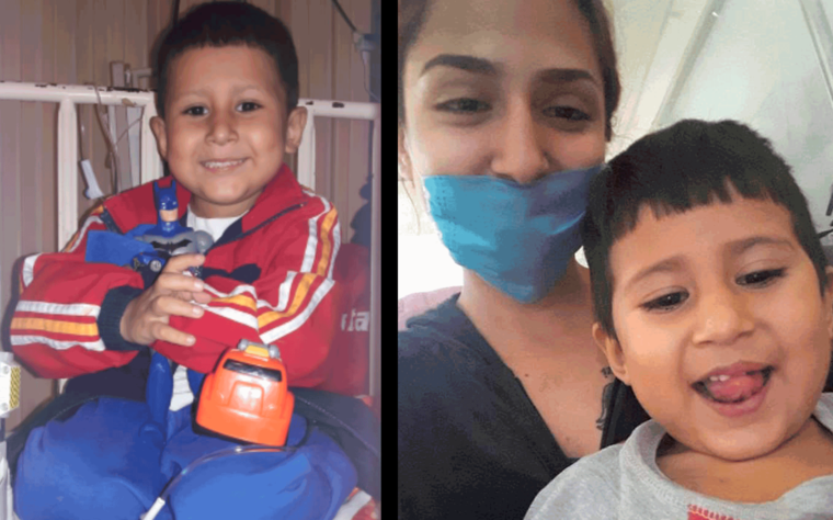 Alexis, el niño con cáncer que falleció en Monterrey el 19 de febrero.