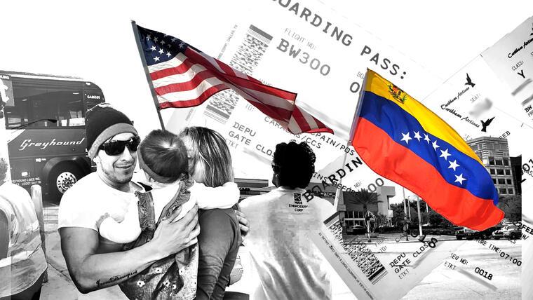Dos gobiernos en Venezuela y la falta de vuelos desde EE.UU. sitúan a los inmigrantes con órdenes de deportación en un complicado limbo.