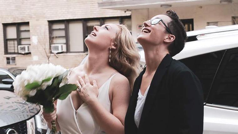Reilly Jennings, de 28 años, y Amanda Wheeler, de 38 años, contrajeron matrimonio este viernes en la ciudad de Nueva York