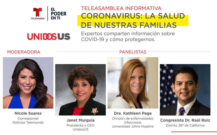Teleasamblea informativa Coronavirus: la salud de nuestras familias