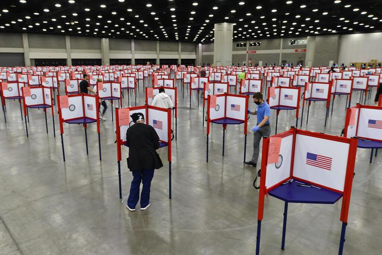 Puestos de votación en Louisville, Kentucky.