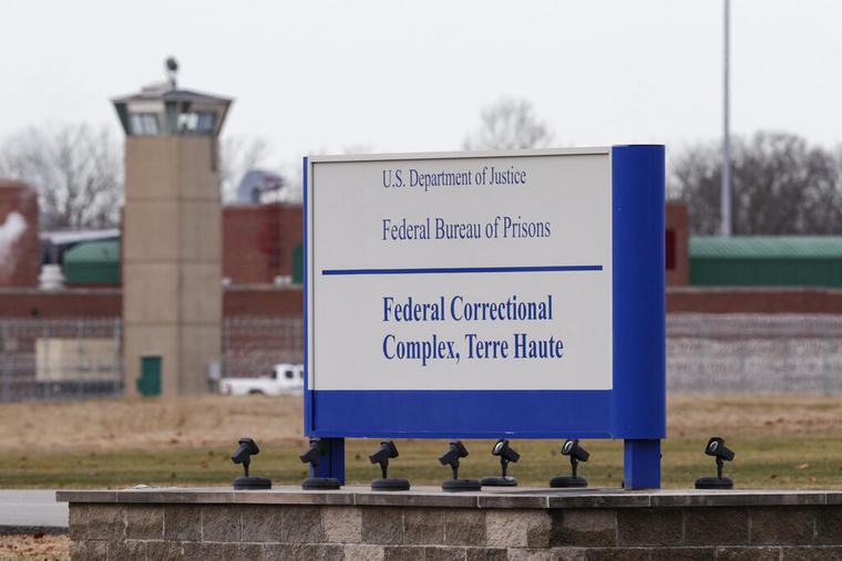 Entrada de la prisión de Terre Haute, Indiana