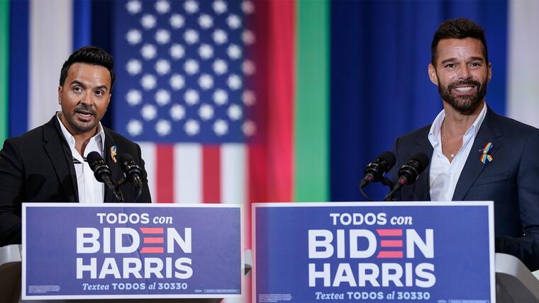 Ricky Martin y Luis Fonsi muestran apoyo a Joe Biden
