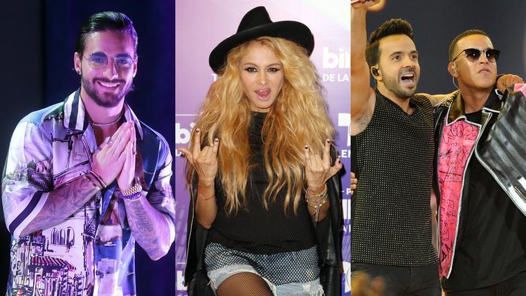 Maluma, Paulina Rubio, Luis Fonsi y Daddy Yankee