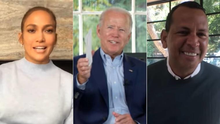 Jennifer Lopez, Joe Biden, Alex Rodriguez