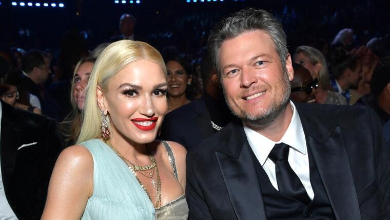 Gwen Stefani y Blake Shelton en los Grammy Awards 2020