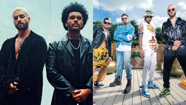 Maluma y The Weeknd; Amenazzy, Yandel, Mau y Ricky