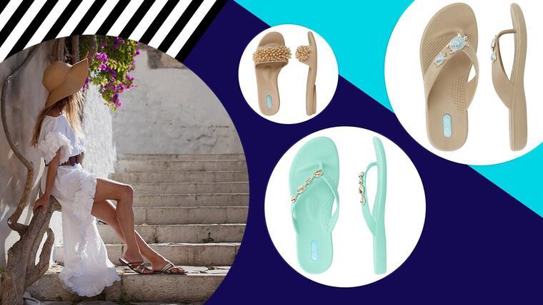 Modelo con sandalias