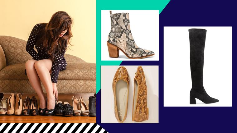 Mujer probando zapatos
