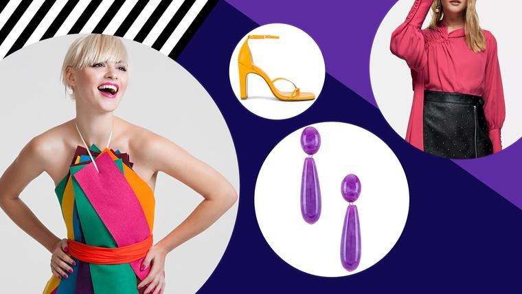 Mujer usando colores en tendencia