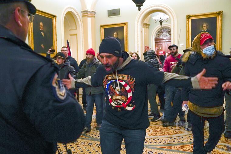 Alborotadores en el Capitolio, el pasado 6 de enero.