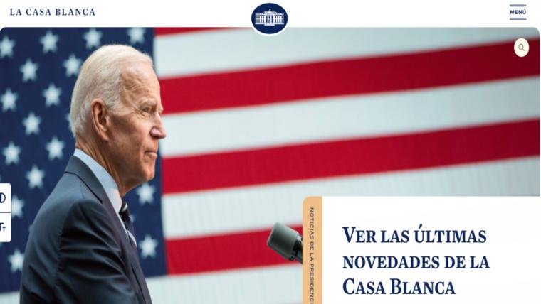 La página de internet de la Casa Blanca ahora incluye una sección en español.
