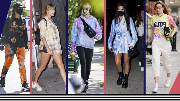 Celebridades usando tie dye