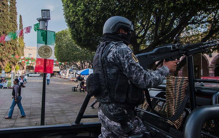 Patrulla de policía en Jalisco