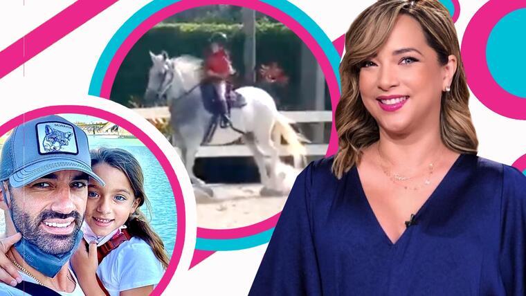 Toni Costa queda asombrado tras su hija pegar tremendo salto a caballo