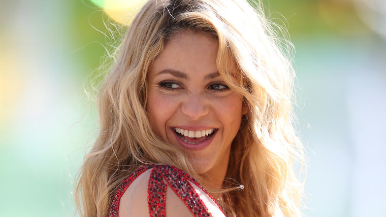 Shakira durante la copa mundial 2014