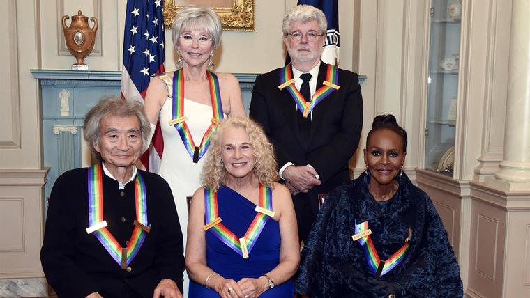 Carole King, Cicely Tyson, Rita Moreno, George Lucas, Seiji Ozawa