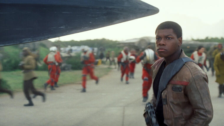 John Boyega en el papel de Finn