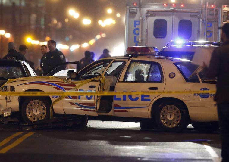 Imagen de archivo de un coche de policía en Washington DC.