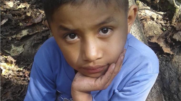 Felipe Gómez Alonzo, el niño guatemalteco que murió bajo custodia de la Patrulla Fronteriza en una imagen de archivo cedida por Catarina Gómez vía AP