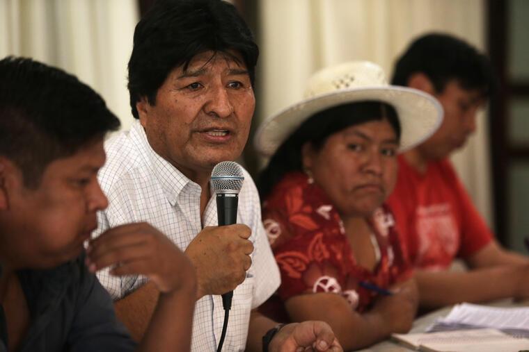 Evo Morales anuncia al candidato del MAS a la presidencia de Bolivia
