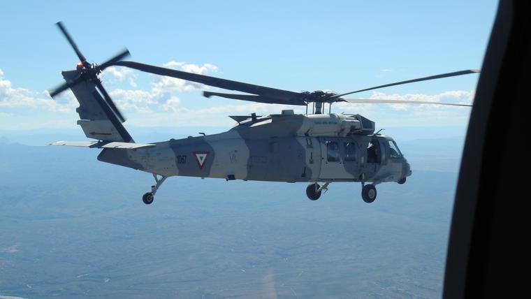 Un helicóptero Black Hawk de la Marina de México en una imagen de archivo.