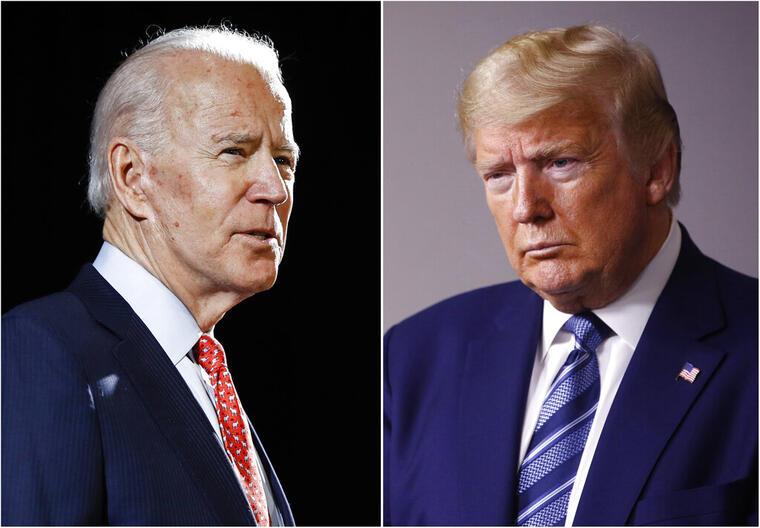 Fotografías combinadas de Joe Biden y Donald Trump