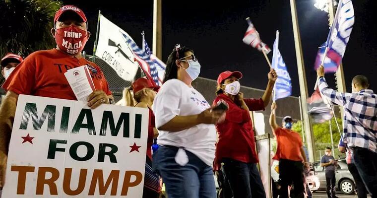 Una manifestación a favor de Trump en Miami, Florida.