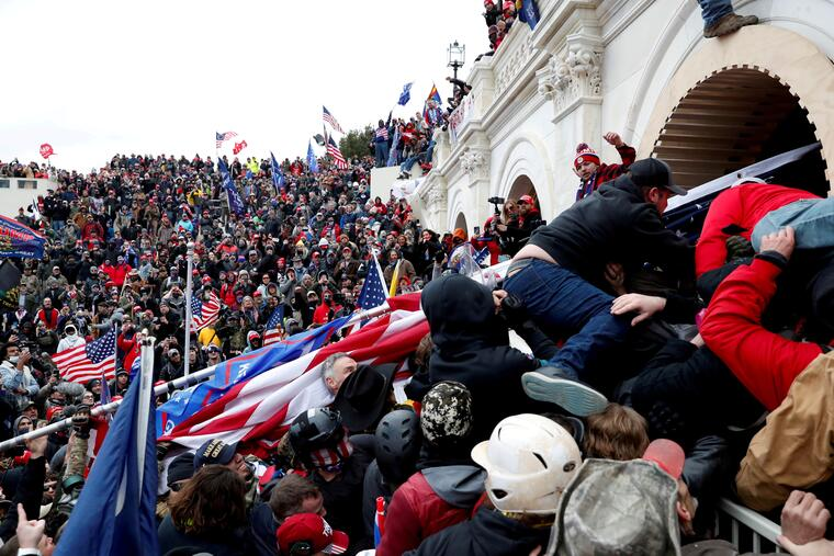 Partidarios del presidente, Donald Trump, asaltan el Capitolio el 6 de enero