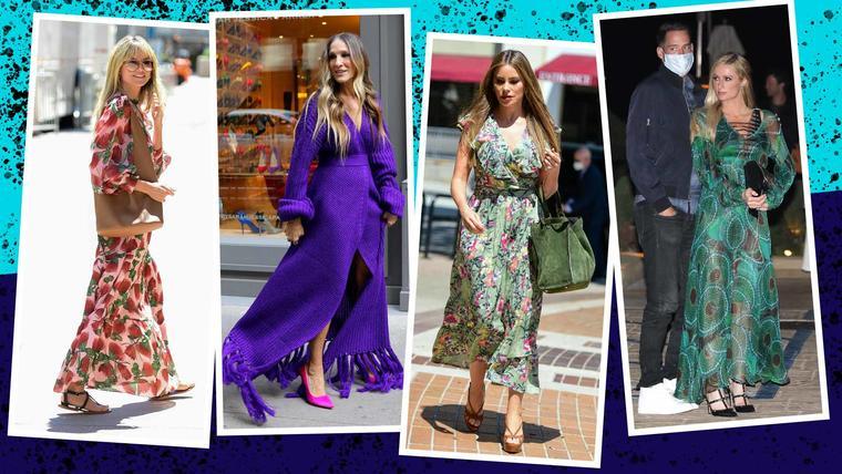Maxi vestidos de las celebridades