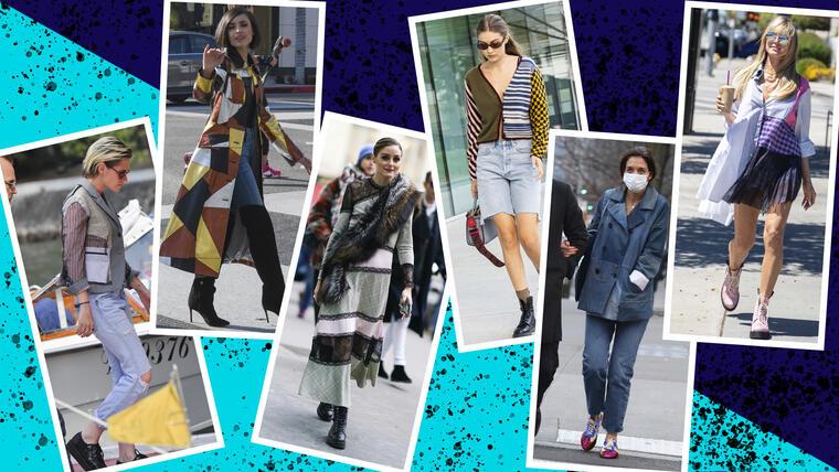 Moda de patchwork en celebridades