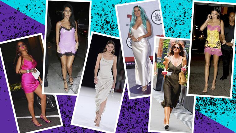Slip dress: el vestido de las celebs que usarás este verano