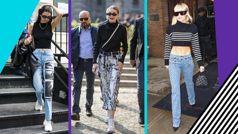 Arriesga con los jeans estampados que usan las famosas | Telemundo