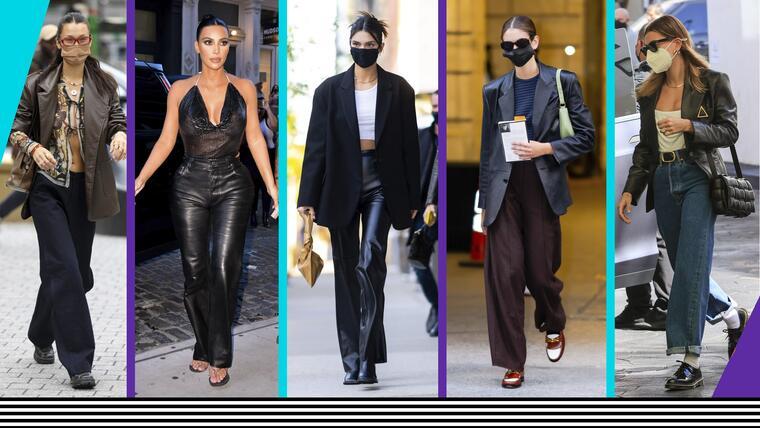 Vístete en pantalones y sacos de cuero como las famosas | Telemundo