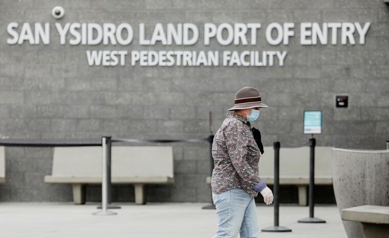Puerto de entrada de San Ysidro en la frontera de Estados Unidos.