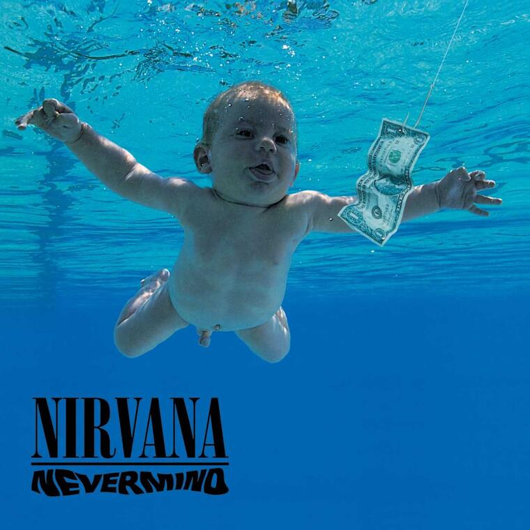 Portada del álbum 'Nevermind' de Nirvana