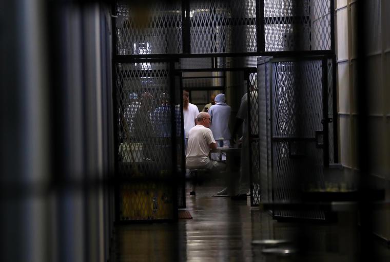 Presos en una cárcel estatal de California.