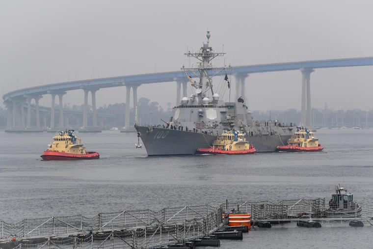 El destructor de la Marina, USS Kidd