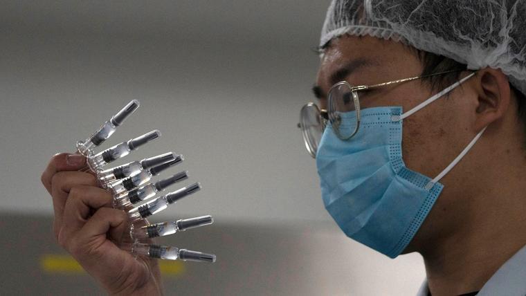 Vacuna contra el COVID-19 en Pekín, China.