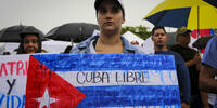 Los cubanos en el exilio claman 'Patria y Vida'