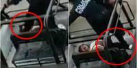 Policías mexicanos patean a una mujer que ya estaba detenida