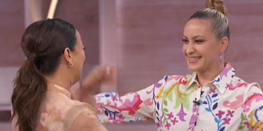 Adamari López y su mejor amiga Dora Stronza en 'hoy Día'