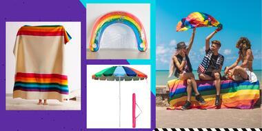 Productos para celebrar pride en la playa