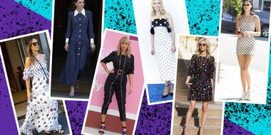 Polka dots: el estampado que ha fascinado a las celebridades esta temporada | Telemundo